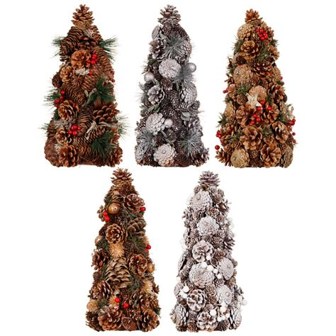 xmas decorations at bm traditional pine cone tree decorations b m
