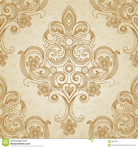 Victorian Style Floor Plans by Vector Seamless Pattern In Victorian Style Stock Vector