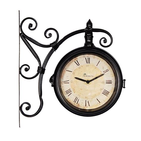rowington station clock garden nation wall mount outdoor