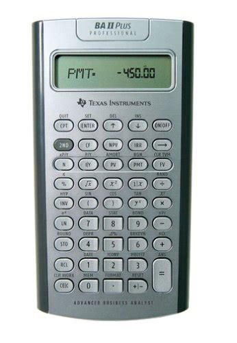 Mba Financial Calculator by Ba2 Calculator Elec Intro Website