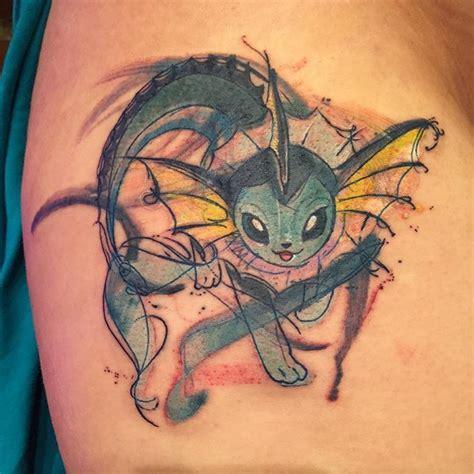 vaporeon tattoo watercolor vaporeon gamer