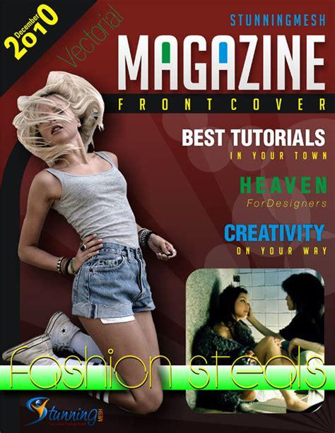 desain grafis magazine cara membuat cover majalah dengan corelldraw kelas