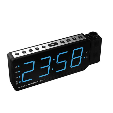 alarm clock projector led digital display temperature snooze fm radio projector clock alexnld