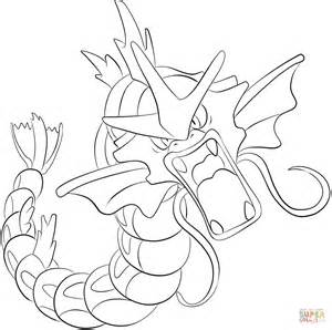 pokemon coloring pages magikarp gyarados coloring page free printable coloring pages
