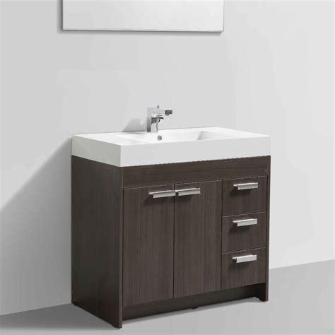 36 Modern Bathroom Vanity by Eviva Lugano 36 Quot Grey Oak Modern Bathroom Vanity With