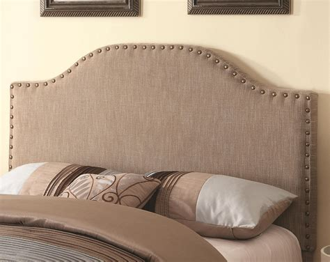 fabric headboard queen coaster 300223 beige queen size fabric headboard steal a