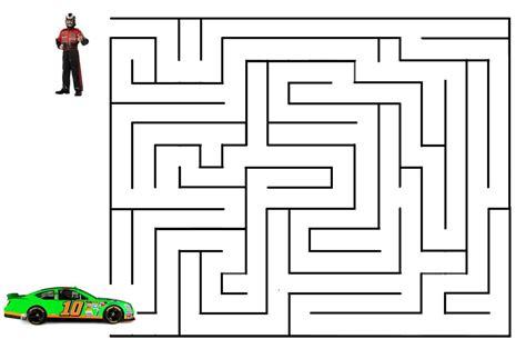 printable car maze pin car maze printable answer on pinterest