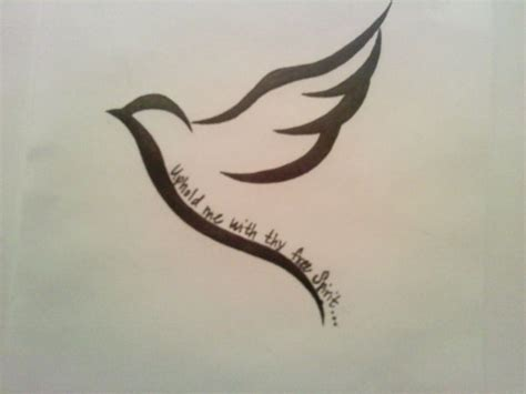 holy spirit dove tattoo designs dove for my nana uphold me with thy free spirit