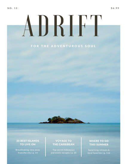 canva magazine layout adrift island travel magazine templates by canva