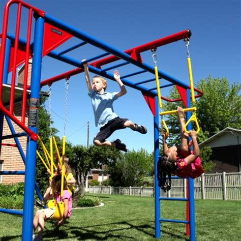 monkey bar swing set new huge multi color metal playground swing set monkey
