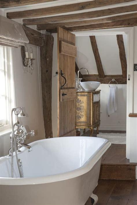 bathrooms  exposed wooden beams digsdigs