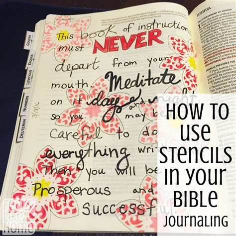 How to Improve Your Bible Journaling with Adhesive