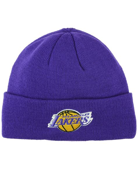 adidas knit hat adidas originals los angeles lakers cuff knit hat in