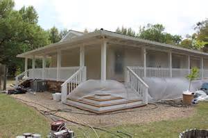 how to build a wrap around porch dreamy double wide