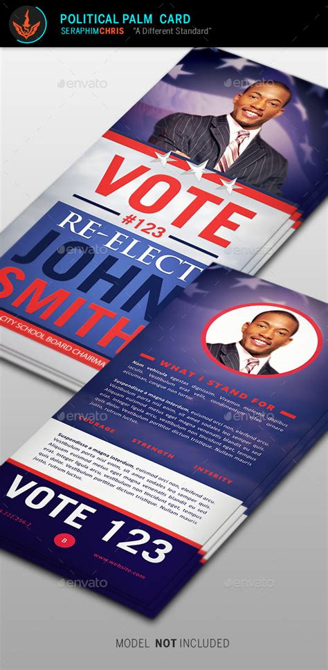 Palm Card Template Photoshop by Re Election Palm Card Template Graphicriver