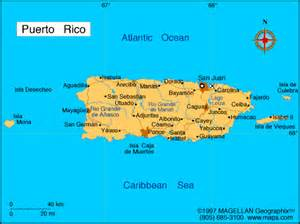 Puerto Rico Map Images by Countries