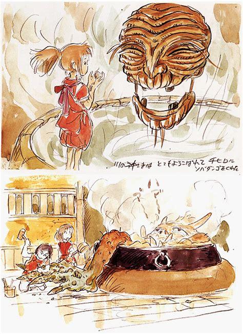 Ghibli Of Spirited Away Us Artbook hayao miyazaki spirited away concept studio ghibli conceptsandcoffee
