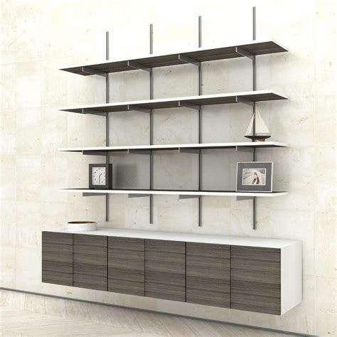 wall mount shelving sale item wall mounted shelves with cabinets 3 bay modern shelving