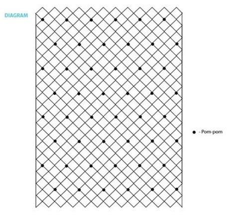 abstract repository pattern lattice pom pom crochet blanket