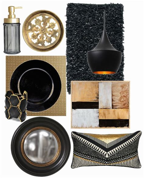 Black Home Decor Accessories by Black And Gold Home Decor Places In The Home