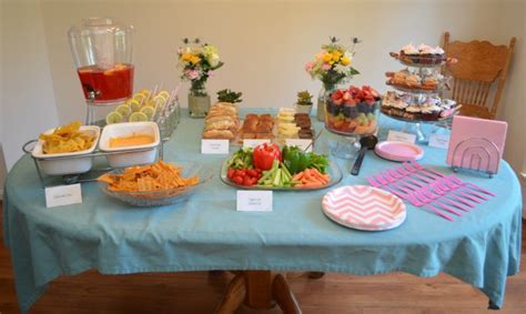 table foods for baby baby shower food table pixshark com images
