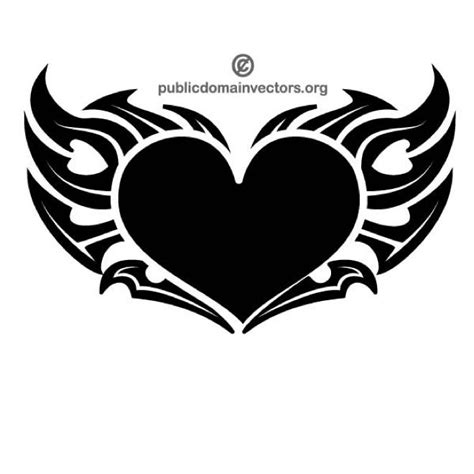 heart tattoos vector heart vector tribal style download at vectorportal