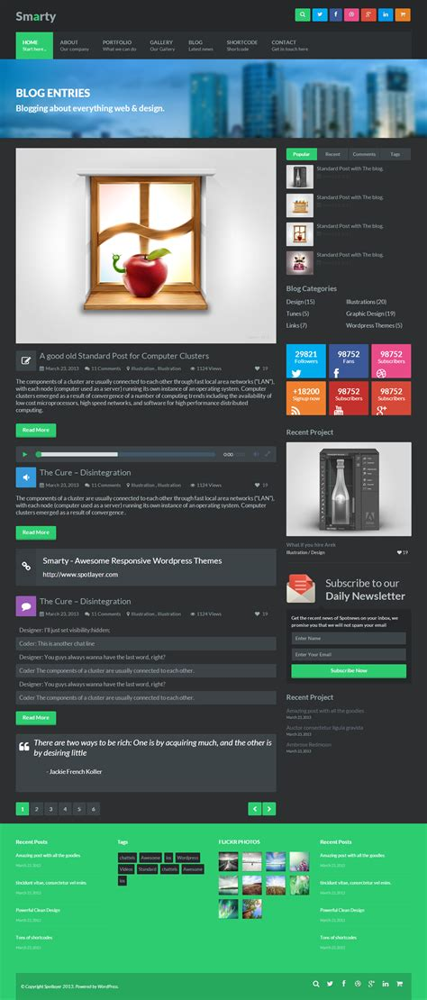 Smarty Responsive Html5 Template By Spotlayer Themeforest Smarty Web Template