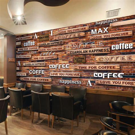 coffee shop retro design online get cheap vintage style wallpaper aliexpress com