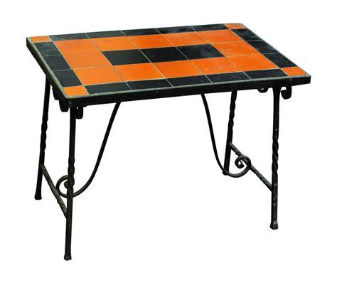 Black Metal Patio Table Orange Black Metal Patio Table Olde Things