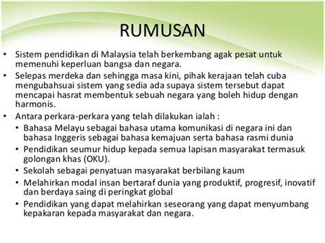 pendidikan di malaysia wikipedia bahasa melayu isu pluraliti selepas merdeka dari perspektif pendidikan
