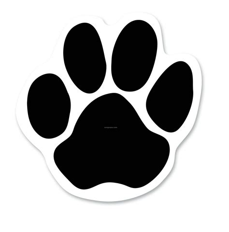 coloring pictures of dog paws dog paw print template clipart best