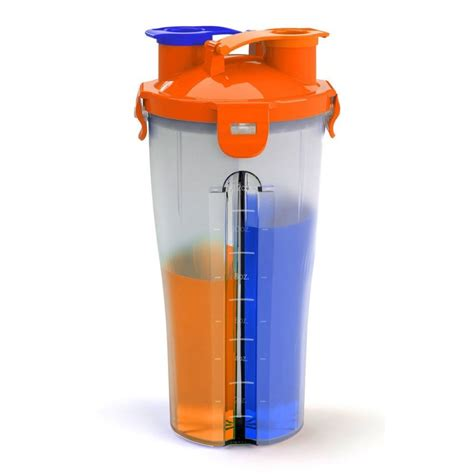 Shaker Hydracup hydracup dual shaker 450ml x 2 assorted colours sportitude