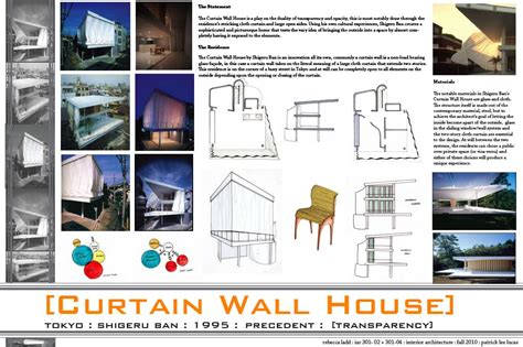 curtain wall house plan rebecca s third year blog folio september 2010