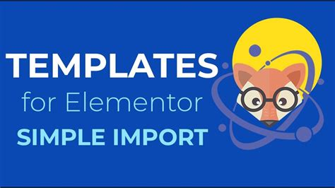 templates for elementor elementor page templates simple import with orbitfox