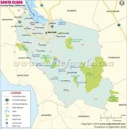 santa clara county map of santa clara county california