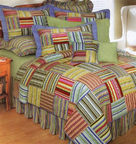 Discount Quilts Bright Stripes Quilt And Bedding