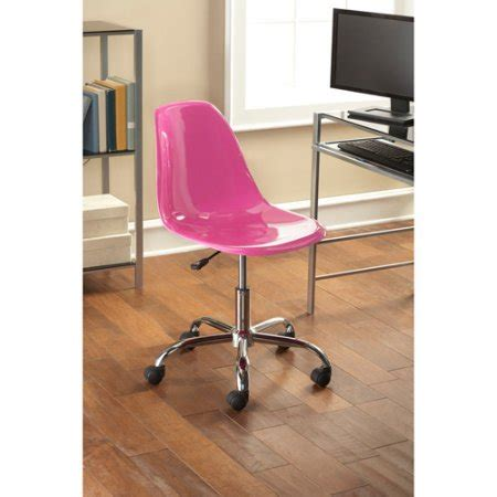 Pink Office Desk Mainstays Contemporary Office Chair Colors Walmart