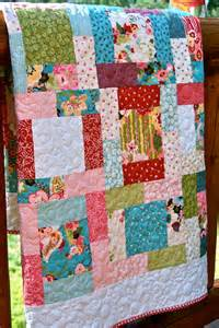 happy handmade baby quilt by piecesofpine on etsy