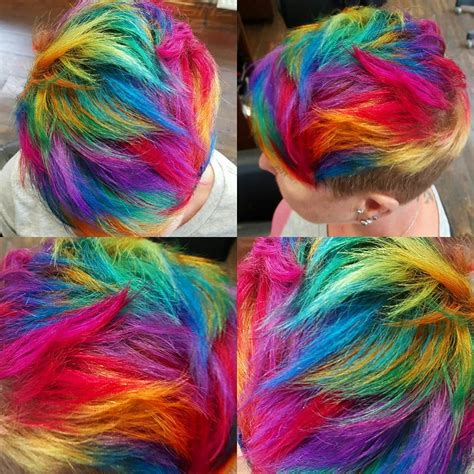 rainbow color hair ideas image short rainbow hair colors ideas download