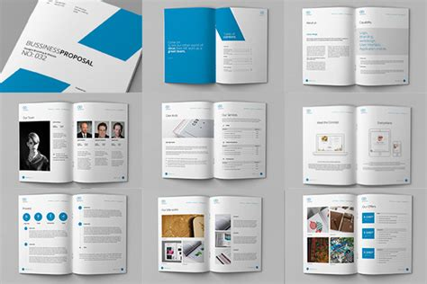clean proposal  template brochure templates