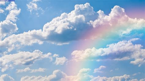 rainbow cloud rainbow in the clouds wallpaper 1034381
