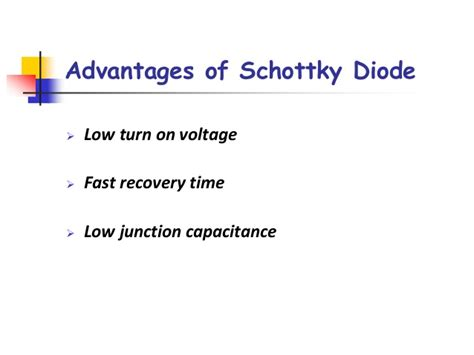 schottky diode turn on time 28 images chapter 3 solid state diodes and diode circuits ppt