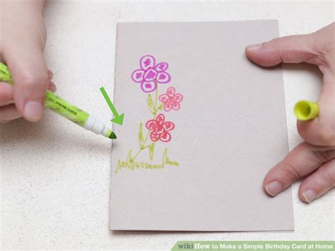 How To Make A Simple Birthday Card For