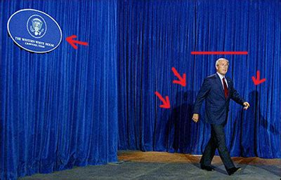 johnny carson curtains bush in crawford calling it curtains reading the pictures