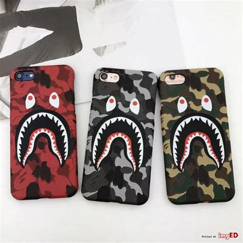 Bathing Ape Iphone 7 Bape aape bape bathing camo shark iphone 7 7plus grey