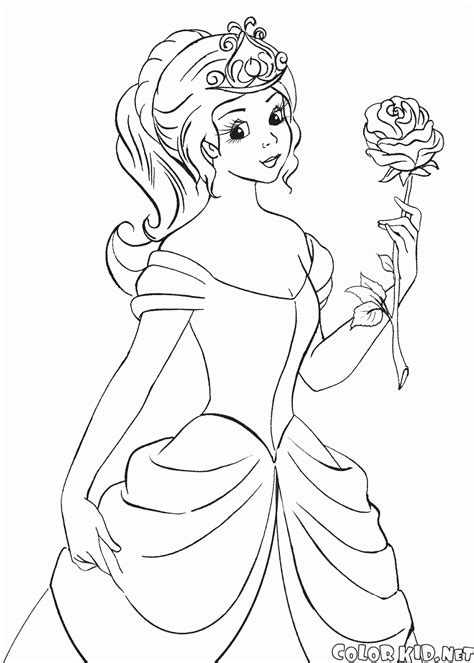 princess rose coloring page coloring page princess waters flowers