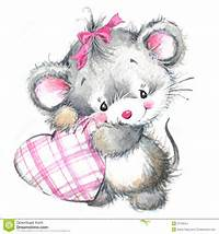 Valentine Day And Cute Animal Stock Illustration  Image 53799254