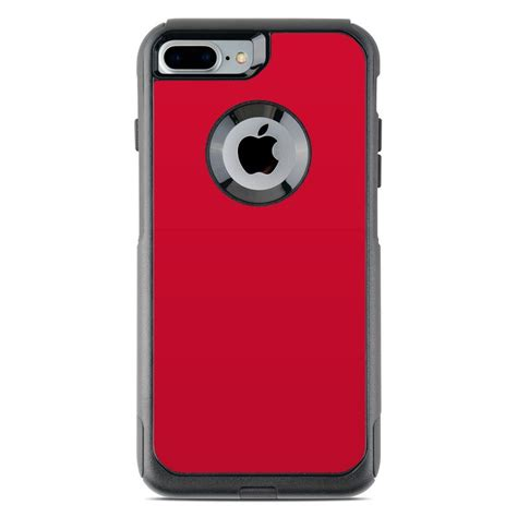 otterbox commuter iphone   case skin solid state red  solid colors decalgirl