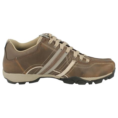 mens skechers casual leather shoes refresh ebay