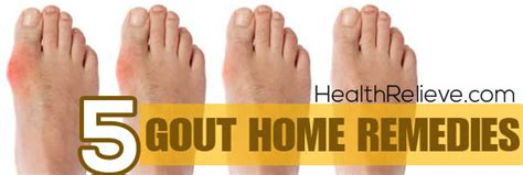 5 simple gout home remedies healthrelieve
